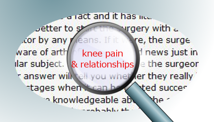 Spotlight on knee pain and relationships