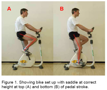 correct saddle height