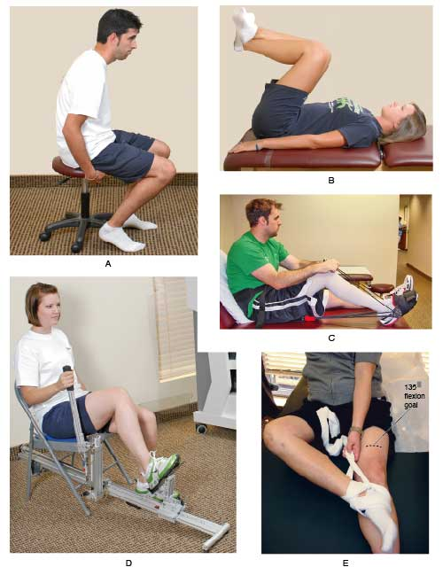 Knee rehab exercises