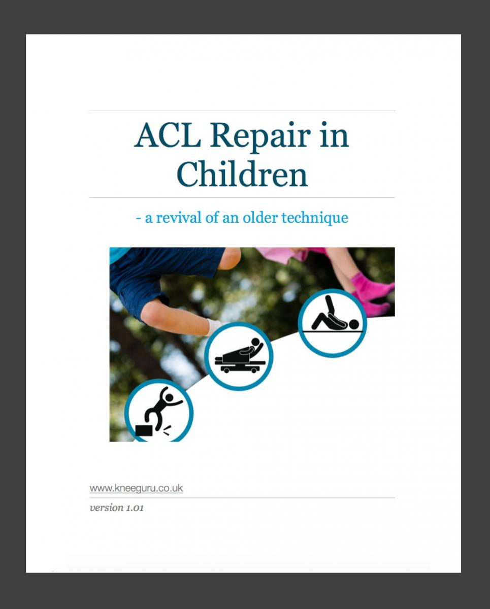 ACL repair in children