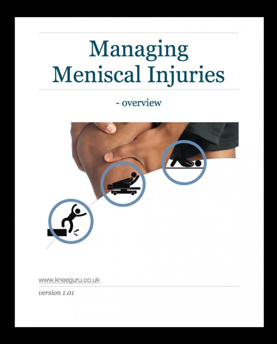 eBook cover- managing meniscal injuries framed