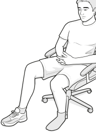 assisted flexion using a chair