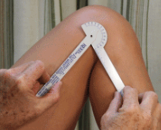 goniometer for range of motion of knee