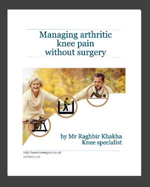 Managing arthritic pain without surgery